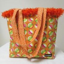 NWOT Large Custom Bag Daddy Orange Retro Shoulder Bag Shoppers Tote image 1