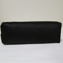 Black Satin 3 Section Small Evening Bag image 4