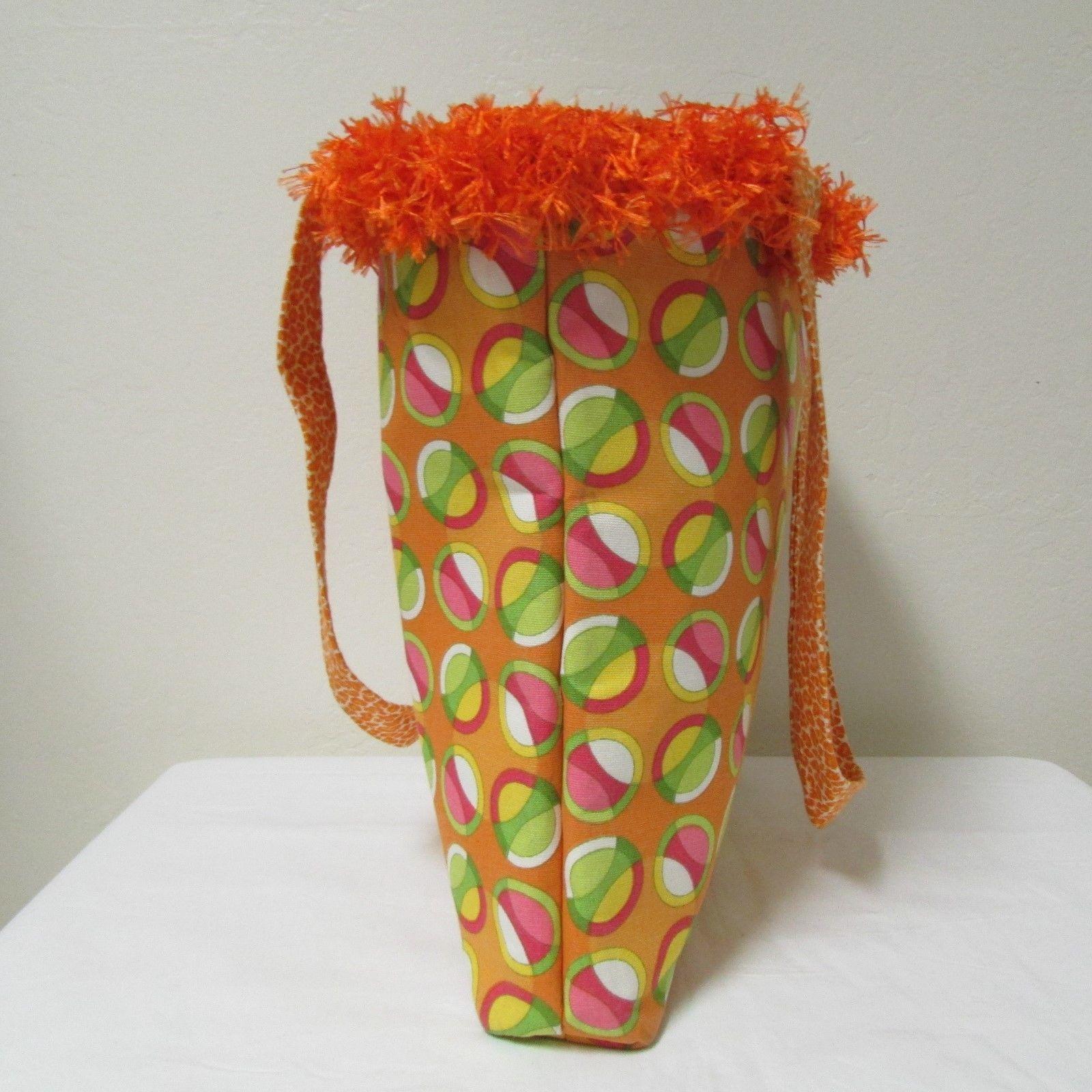NWOT Large Custom Bag Daddy Orange Retro Shoulder Bag Shoppers Tote image 3