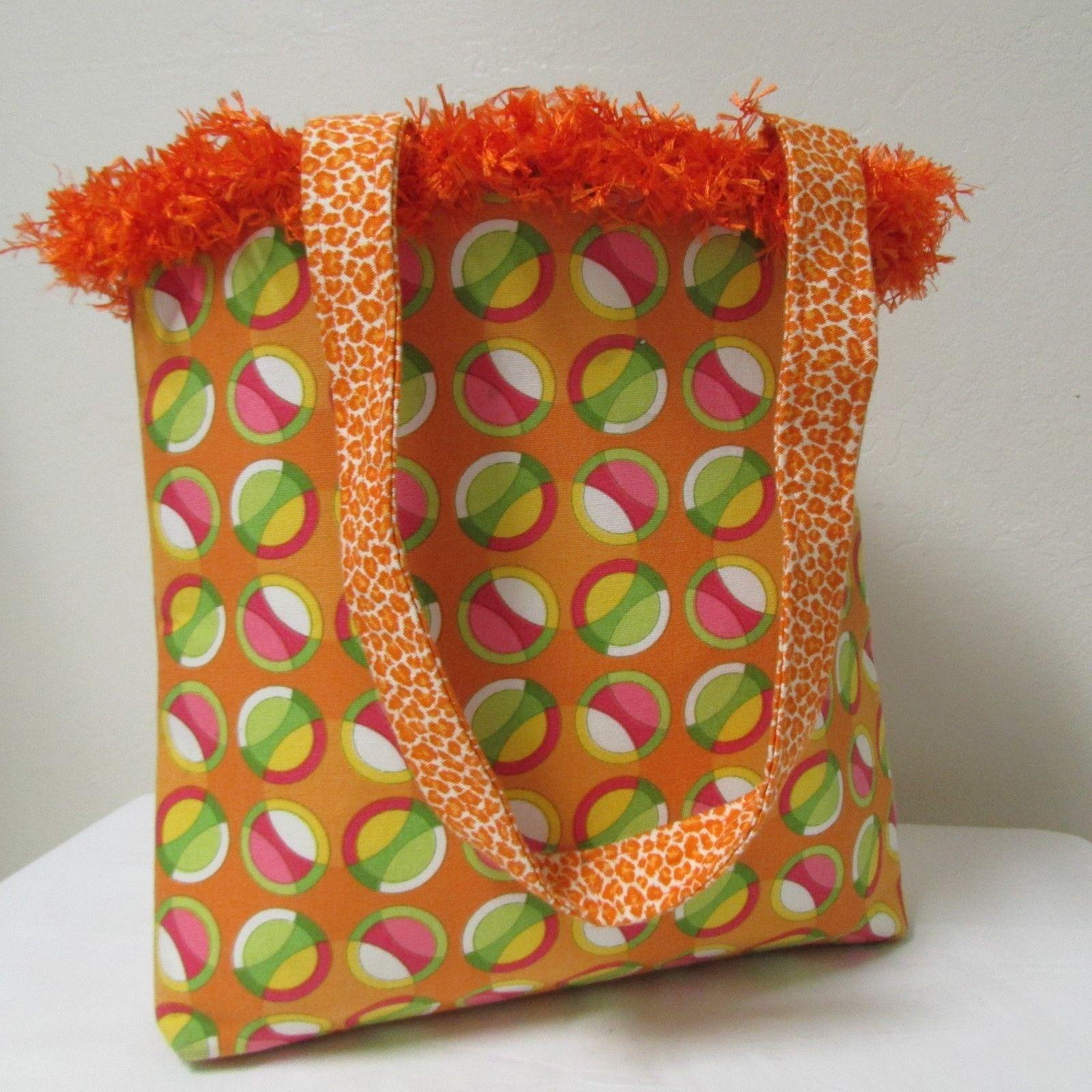 NWOT Large Custom Bag Daddy Orange Retro Shoulder Bag Shoppers Tote image 4