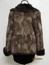 Beautiful Brown Suede Jacket Deep Brown Rabbit Fur Lining by RedFish Designs image 2