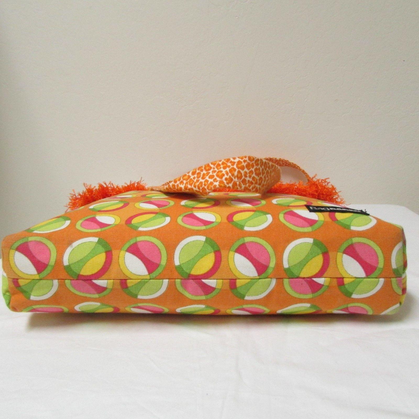 NWOT Large Custom Bag Daddy Orange Retro Shoulder Bag Shoppers Tote image 5