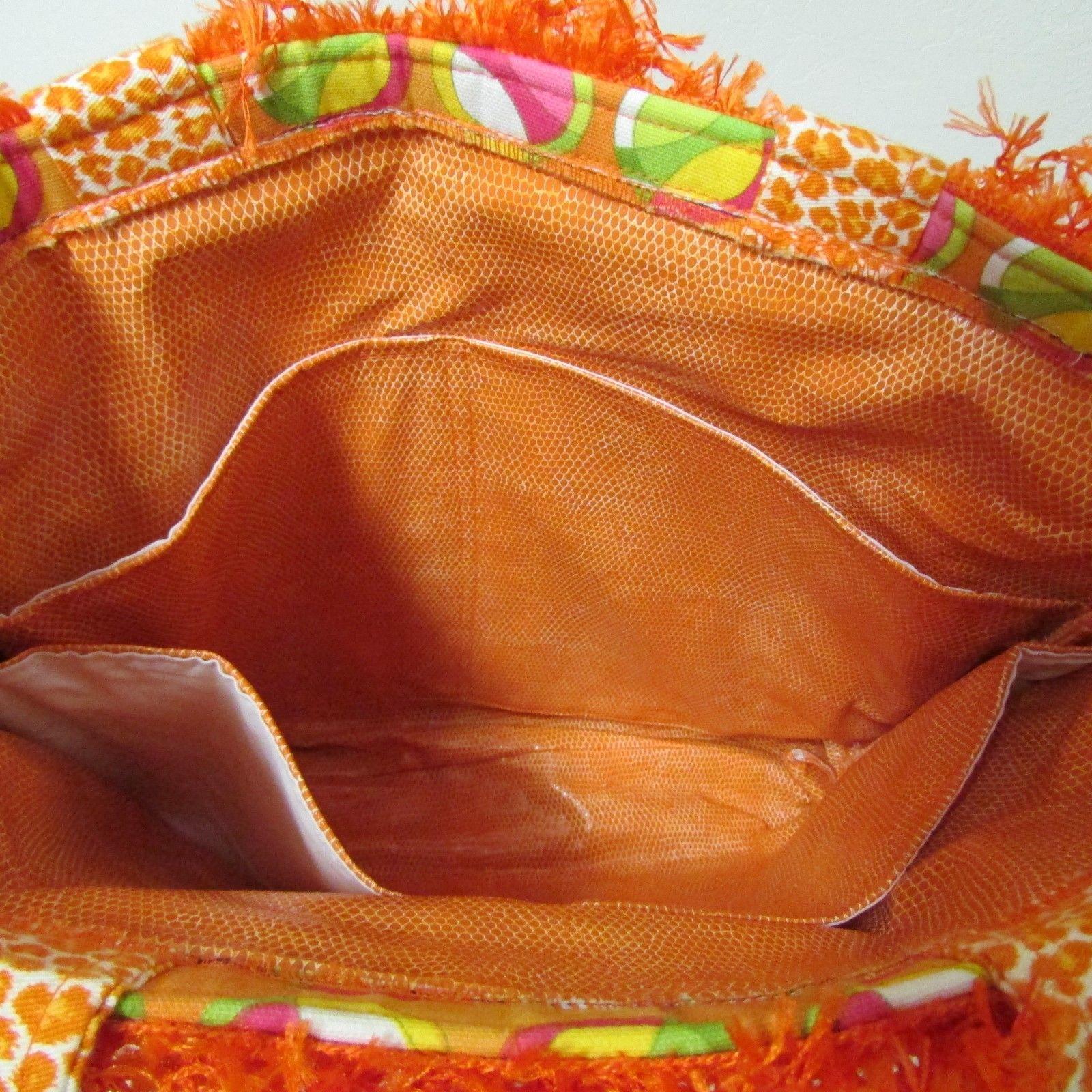 NWOT Large Custom Bag Daddy Orange Retro Shoulder Bag Shoppers Tote image 6