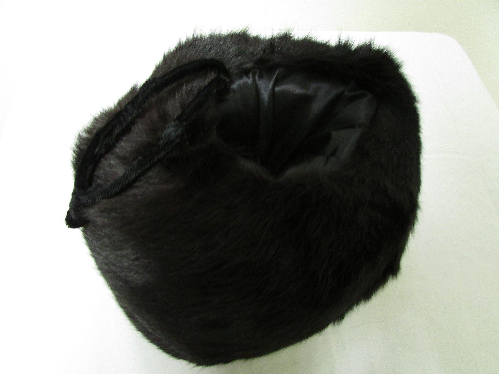 Luxurious Deep Dark Brown Rabbit Muff Hand Warmer With Velvet Wrist Strap image 3