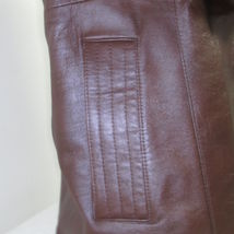 Men's Vintage Bermans Brown Leather Coat Size 40 image 5