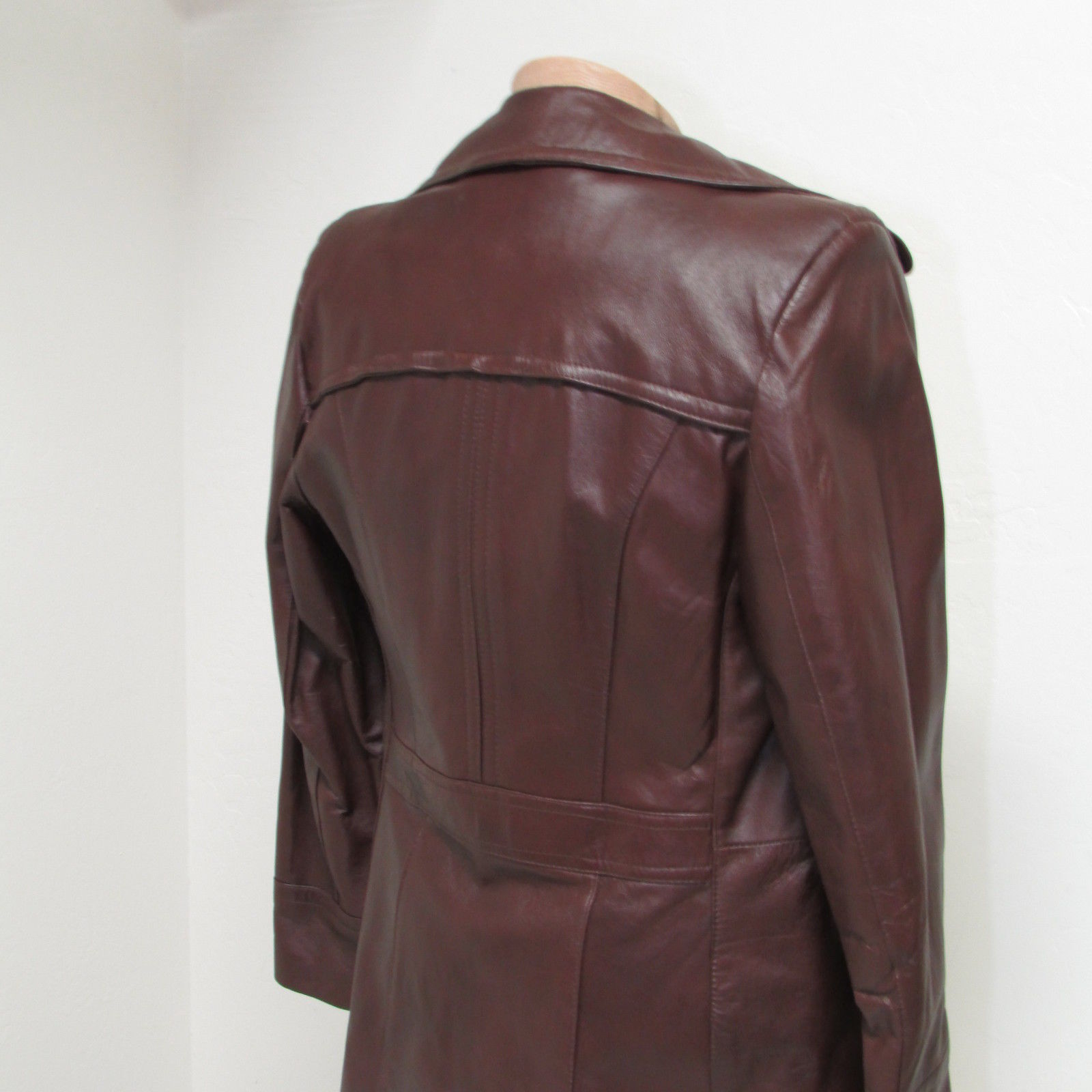 Men's Vintage Bermans Brown Leather Coat Size 40 image 8