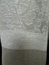 Exquisite Pashmina And Silk Scarf, Shawl Tone On Tone Gray image 5