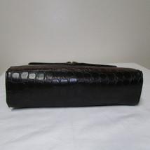 Vintage Brown And Black Envelope Style Alligator Print Small Purse image 1