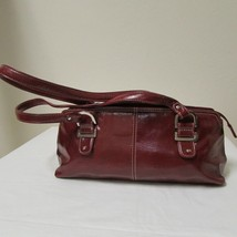 Relic Brand Cranberry Red Faux Leather Shoulder Bag Size Small image 1