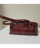 Relic Brand Cranberry Red Faux Leather Shoulder Bag Size Small - $29.00