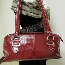 Relic Brand Cranberry Red Faux Leather Shoulder Bag Size Small image 2