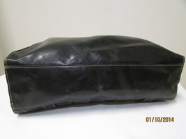 Simulated Large Black Faux Leather Shoulder Tote by Emilie M. image 2