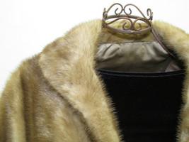 Vintage Elegant Classy Tan Mink Cape Stole image 3