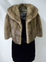 Soft Silky Tan Mink Cape by Stanley Furs Size Medium image 1