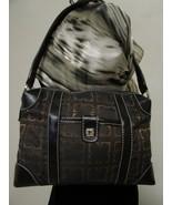 Vintage Liz Claiborne Black With Brown And Gold Fabric Shoulder Handbag ... - $29.00