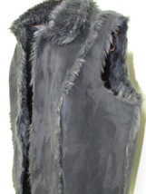 Vintage Coldwater Creek Black Faux Suede and Fur Vest Size 1X/18 - $78.00