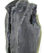 Vintage Coldwater Creek Black Faux Suede and Fur Vest Size 1X/18 - $78.00