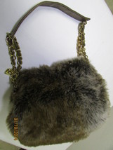 Gorgeous Faux Fur Baguette With Gold Tone Hardware image 1