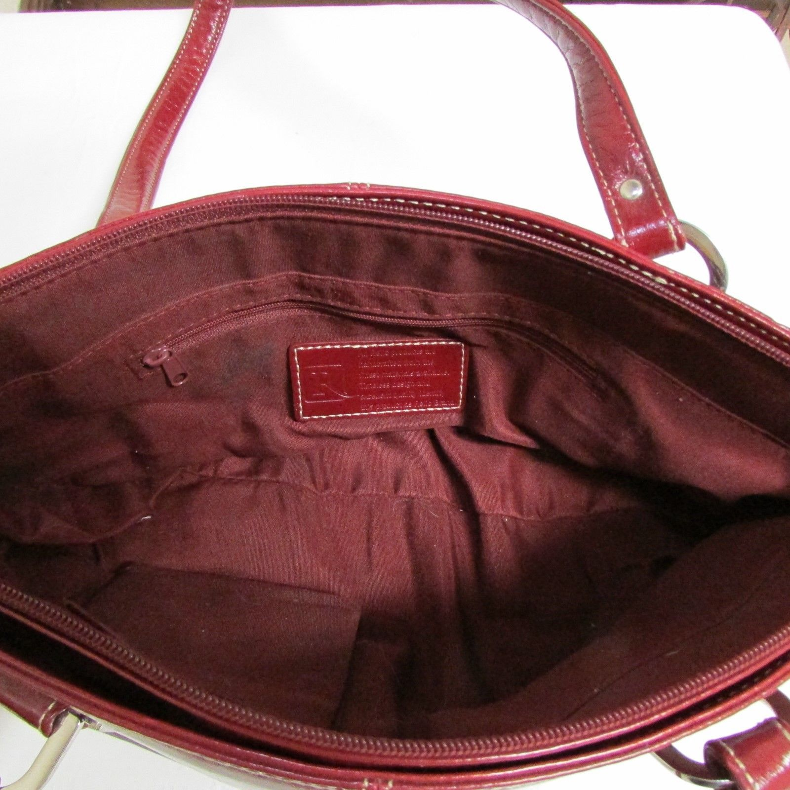 Relic Brand Cranberry Red Faux Leather Shoulder Bag Size Small image 7