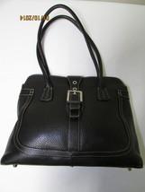 Exceptional Mila Paoli Genuine Black Pebble Leather Shoulder Bag image 1