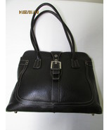 Exceptional Mila Paoli Genuine Black Pebble Leather Shoulder Bag - $75.00