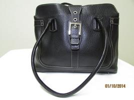 Exceptional Mila Paoli Genuine Black Pebble Leather Shoulder Bag image 2