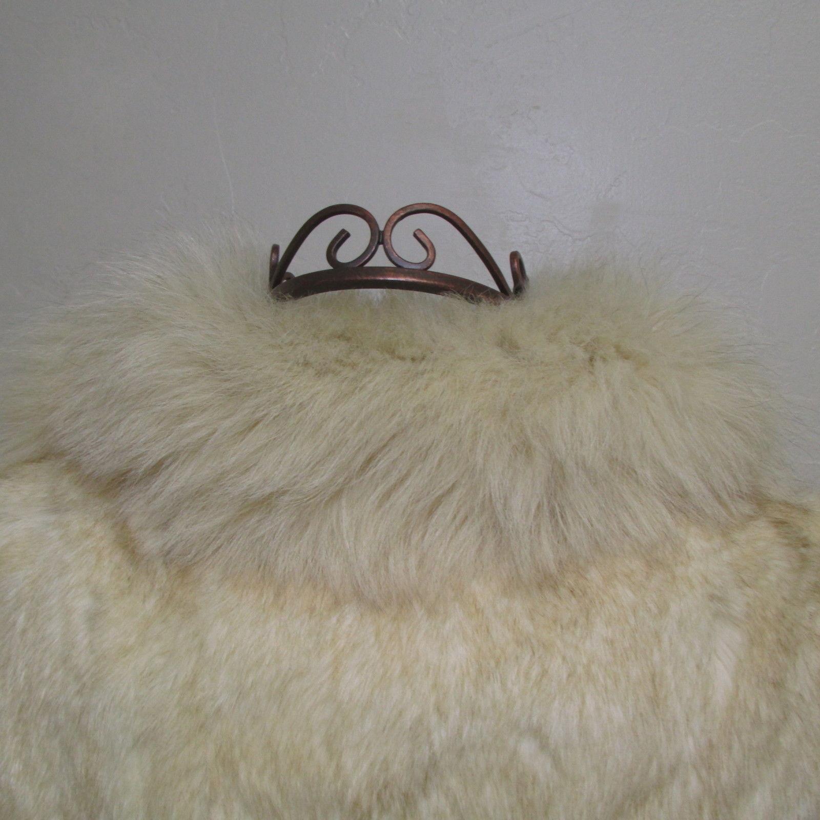 Luxuriously Soft Vintage Creamy Blonde Rabbit Waist Length Jacket Size M