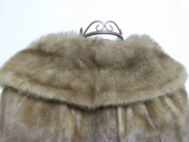 Soft Silky Tan Mink Cape by Stanley Furs Size Medium image 4
