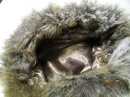 Gorgeous Faux Fur Baguette With Gold Tone Hardware image 2