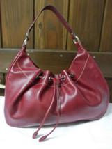 Liz Claiborne Faux Red Pebbled Leather Shoulder Bag image 2