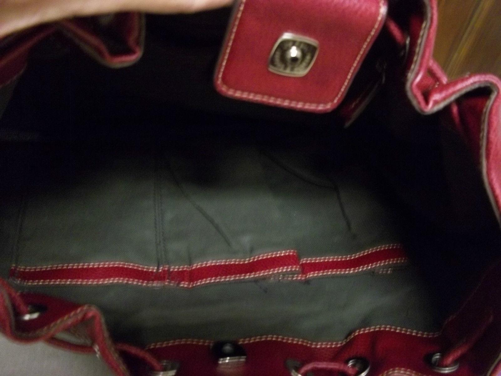 Liz Claiborne Faux Red Pebbled Leather Shoulder Bag image 4