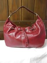 Liz Claiborne Faux Red Pebbled Leather Shoulder Bag image 1