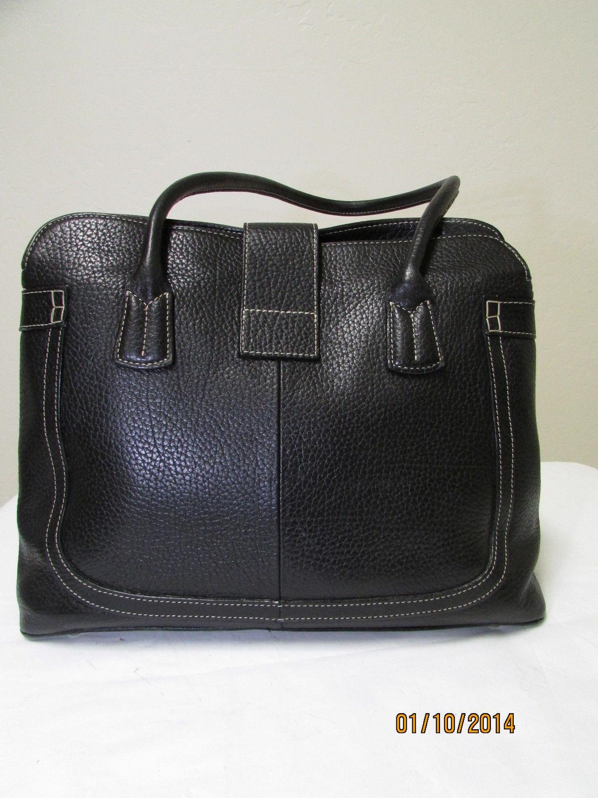 Exceptional Mila Paoli Genuine Black Pebble Leather Shoulder Bag image 5