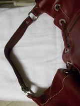 Liz Claiborne Faux Red Pebbled Leather Shoulder Bag image 8
