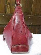 Liz Claiborne Faux Red Pebbled Leather Shoulder Bag image 5