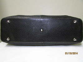 Exceptional Mila Paoli Genuine Black Pebble Leather Shoulder Bag image 6