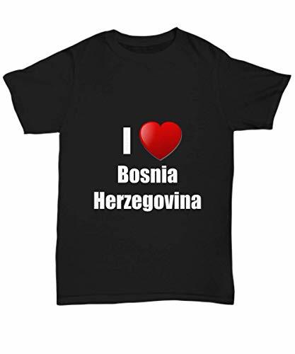 Primary image for Bosnia Herzegovina T-Shirt I Love Country Lover Pride Funny Gift for Gag Unisex