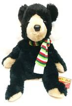 "Bjorn Black Bear Pudgie (Holiday) Medium 12"" by Douglas - $24.26"