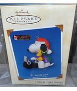 2002 Hallmark Ornament Peanuts Literary Ace Spotlight on Snoopy #5 Typew... - $17.50