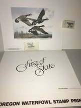 OR-1  1984  Oregon  1st of State Duck Stamp Print Medallion Edition  - $44.55