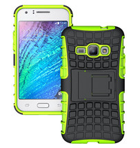 Dual Layer Hybrid Stand Cover Case For Samsung Galaxy J1 2016 - Green  - $4.99