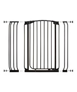 Dreambaby Chelsea Extra Tall Auto Close Security Gate in Black with Exte... - $89.99