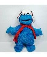"GUND Sesame Street Cookie Monster Blue Red Hat Scarf 17"" Plush Stuffed A... - $29.69"