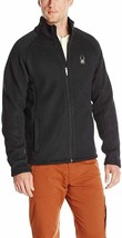 Spyder Men's Foremost Full Zip Heavyweight Black Core Sweater Jacket M - $49.49