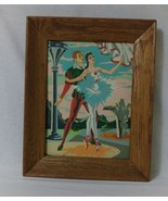 Vintage Paint by Numbers Large 12x16 Harlequin Ballet Framed Painting art - $120.29