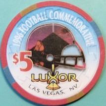 $5 Casino Chip. Luxor, Las Vegas, NV. 1996 Football Commemorative. S02. - $6.50