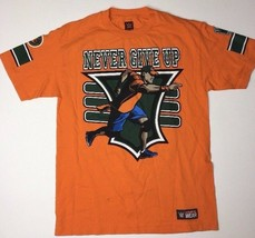 John Cena 15X You Can't See Me Never Give Up Orange Wwe Authentic T-Shirt Medium - $23.38
