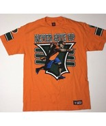 John Cena 15X YOU CAN'T SEE ME Never Give Up Orange WWE Authentic T-Shir... - $23.38