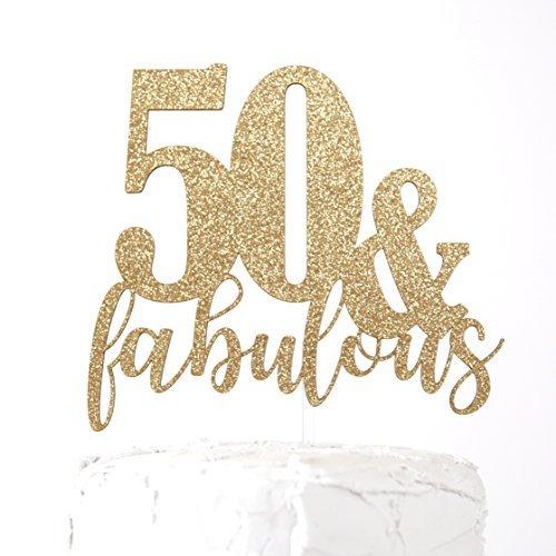 Fabulous 50 Cake Topper: NANASUKO 50th Birthday Cake Topper