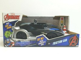 Marvel Avengers Black Panther Friction Car Light Sound Kid Action Toy Gift NEW - $19.79